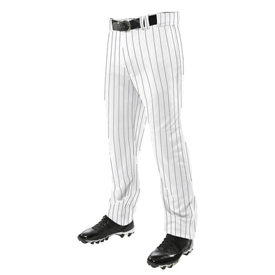 Champro Pinstripe Triple Crown Open Bottom Pant - White/Black