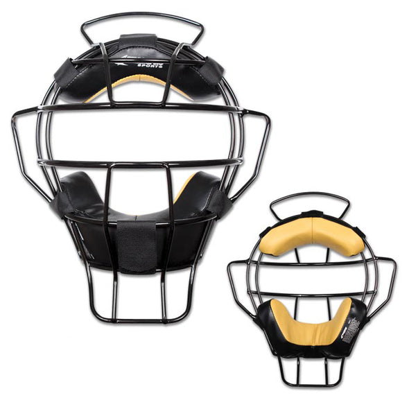Champro Pro-Plus Aluminum Lightweight Umpire Mask with Bio Fresh Pad - Black