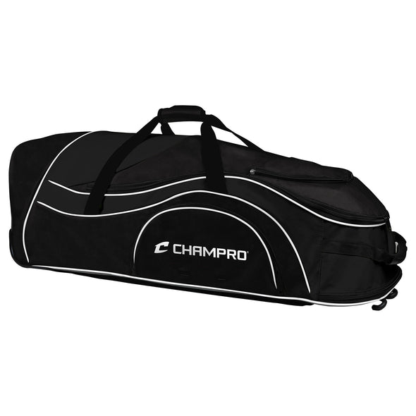 Champro Pro Plus Catcher's Roller Bag - Black