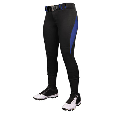 Champro Surge Traditional Style Low Rise Softball Pant - Black/Royal