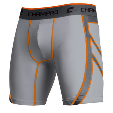 Champro Wind Up Compression Sliding Short - Gray