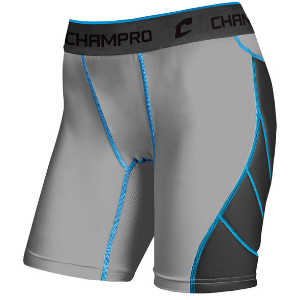 Champro Windmill Women's Sliding Short - Gray