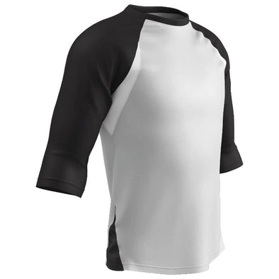Champro Complete Game 3/4 Sleeve Baseball Shirt-Black
