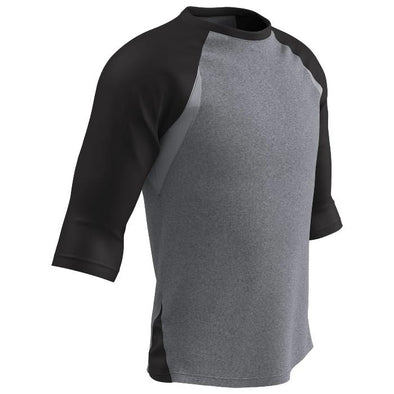 Champro Extra Innings 3/4 Baseball Shirt -Black