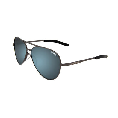 Tifosi Shwae Aviators Sunglasses - Graphite Frame / Bright Blue Smoke Lens