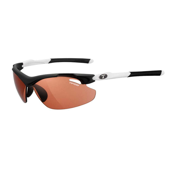 Tifosi Tyrant 2.0 Sunglasses - Black/White Frame / High Speed Red Fototec Lens