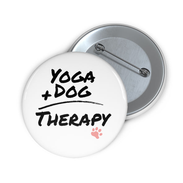 Yoga Dog Therapy|Pin Buttons