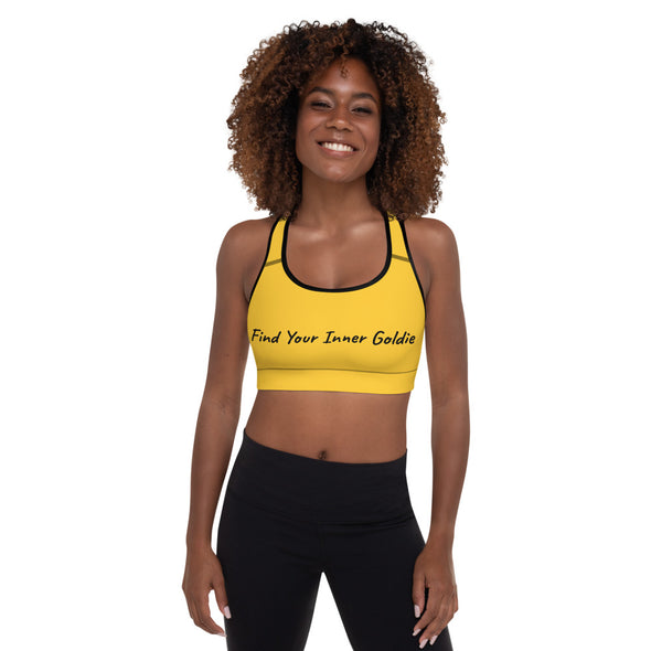 Find Your Inner Goldie| Padded Sports Bra