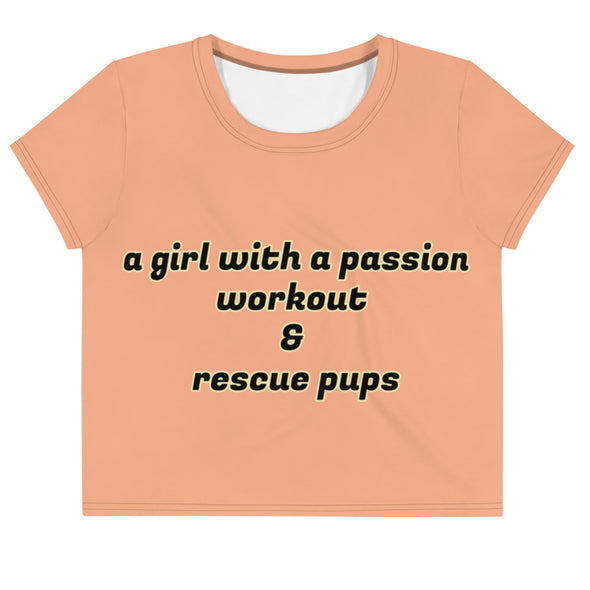 Workout & Rescue Pups| Crop Tee