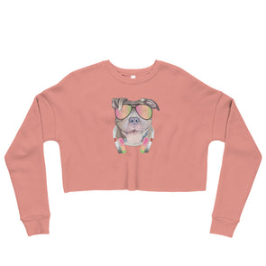 Pittie Headphone|Crop Sweatshirt