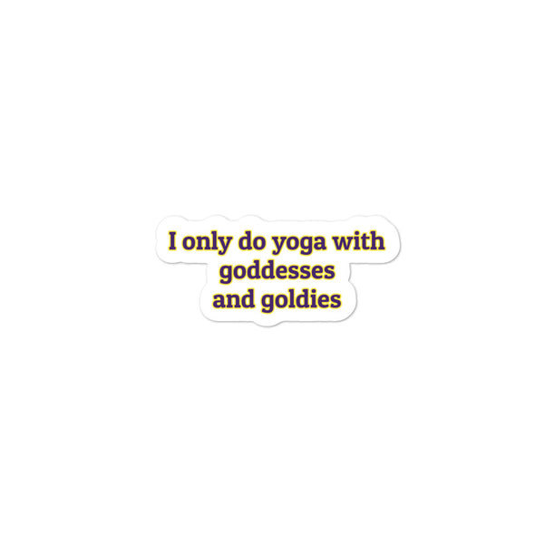 Goldies Goddesses and Yoga| Stickers