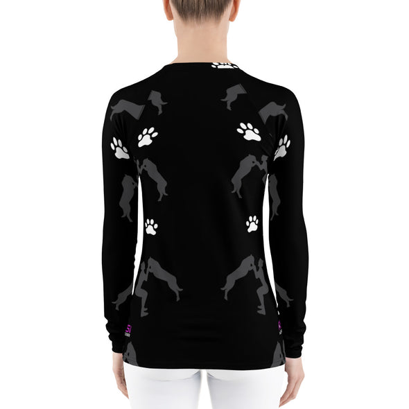 I Squat with Pups| Women's Long Sleeves Rash Guard