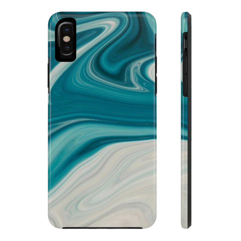 Washy Blue Marble iPhone Case w/ Triple Shield Technology