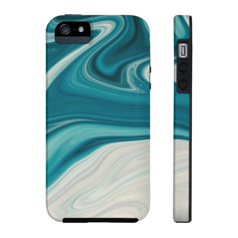 Washy Blue Marble iPhone Case w/ Tri-Shield Technology - Hue Forever