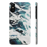 Azure Marble iPhone Case w/ Tri-Shield Technology - Hue Forever