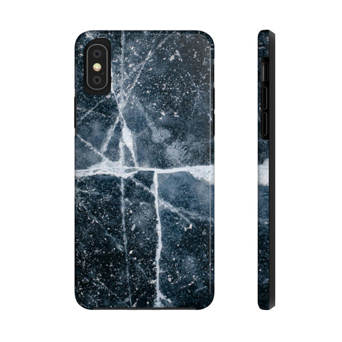 Charcoal Marble iPhone Case w/ Triple Shield Technology