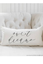 sweet dreams lumbar pillow