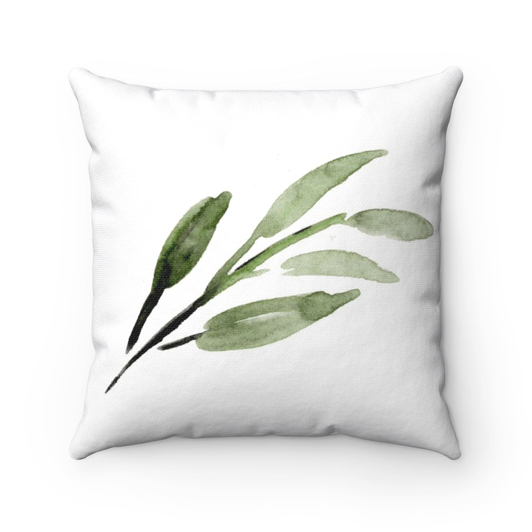 watercolor fern pillow cover