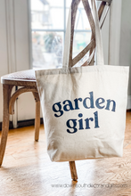 garden girl shopping bag