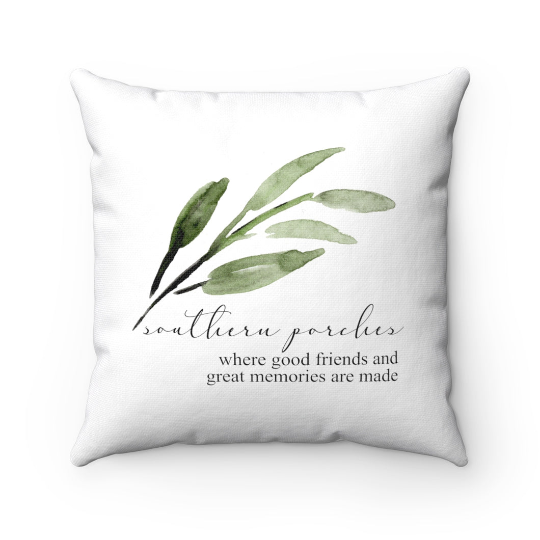 southern porches pillow - cover only