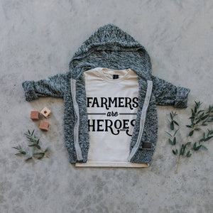farmers are heroes kids tee ~ cream
