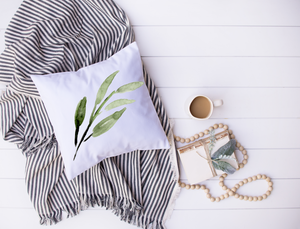 watercolor fern pillow cover ~ free shipping