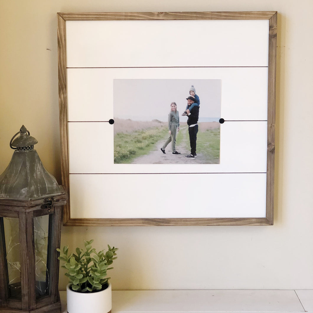 craftee by design | modern farmhouse style shiplap decor. Farmhouse style picture frames for family, kids & newborn pictures