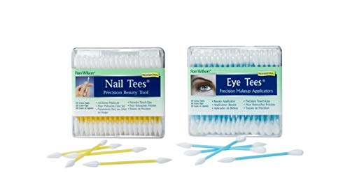 Fran Wilson 2 pack Makeup Applicators (Eye Tees 80 count and Nail Tees Precision 120 Count)