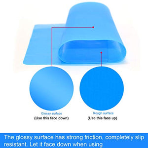 AQUEENLY 2 PCS Silicone Sheet for Crafts Jewelry Casting Molds Mat, Food Grade, Blue