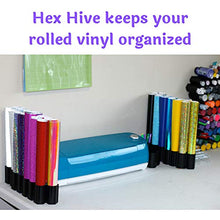 40 pc Set Hex Hive Craft Paint Storage Organizer Rack for Paint, Pens, Dotting Tools, Vinyl Rolls, etc. Craft Room Storage Organizer Made in USA
