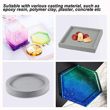 LET'S RESIN Silicone Coaster Molds 4Pcs Epoxy Resin Molds, Square Round Hexagon Molds for Making Coasters, Candle Holders, Flower Pot Holders, Bowl Mat