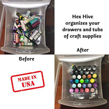 20 pc Set Hex Hive Craft Paint Storage Organizer Rack for Paint, Pens, Dotting Tools, Vinyl Rolls, etc. Craft Room Storage Organizer Made in USA