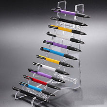 TOMUM 12 Layers Clear Acrylic Display Stand for Pen/Eyebrow Pencil/Makeup Brush/Nail Brush/E-Cigarette