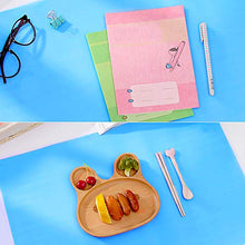 Oversize Silicone Craft mat(23.2 in x 15.6 in), Liquid, Resin Jewelry Casting Molds Mat, Multi-Purpose Food Grade Silicone Placemat (Blue), with 2 PCS Silicone Brushes