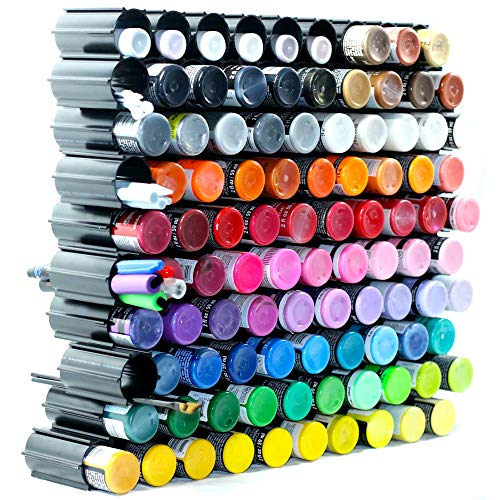100 pc Set Hex Hive Craft Paint Storage Organizer Rack for Paint, Pens, Dotting Tools, Vinyl Rolls, etc. Craft Room Storage Organizer Made in USA
