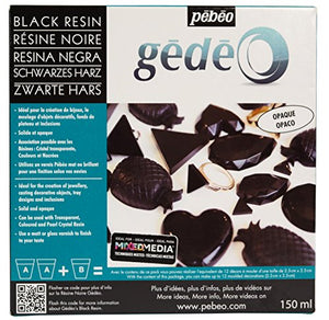 Pebeo Pébéo-Gédéo Kit 150 ML Black Colourant-Liquid Casting, Moulding, Varnishing-Epoxy Resin Compatible Wood and Other M