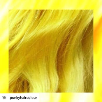 Punky Colour Bright Yellow Semi Permanent Conditioning Hair Colour Lasts 25 Washes