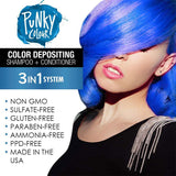 Punky Bluemania 3-In-1 Blue Colour Depositing Shampoo and Conditioner - Lasts 5 to 10 Washes