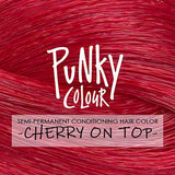 Punky Colour Cherry on Top - Red Semi-Permanent Conditioning Hair Colour - Lasts 35+ Washes
