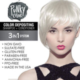 Punky Diamondista 3-In-1 Silver Colour Depositing Shampoo and Conditioner - Lasts 5 to 10 Washes