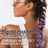 Punky Colour Black to Lilac Mood Switch, Heat Activated Temporary Hair Colour Change (Lasts 1 Wash)