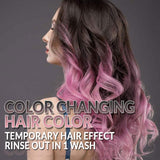 Punky Black to Pink Colour Mood Switch, Heat Activated Temporary Hair Colour Change (Lasts 1 Wash)