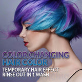 Punky Colour Purple to Blue Mood Switch, Heat Activated Temporary Hair Colour Change (Lasts 1 Wash)