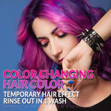 Punky Colour Purple to Pink Mood Switch, Heat Activated Temporary Hair Colour Change (Lasts 1 Wash)