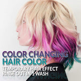 Punky Colour Purple to Turquoise Mood Switch, Heat Activated Temporary Hair Colour Change (Lasts 1 Wash)