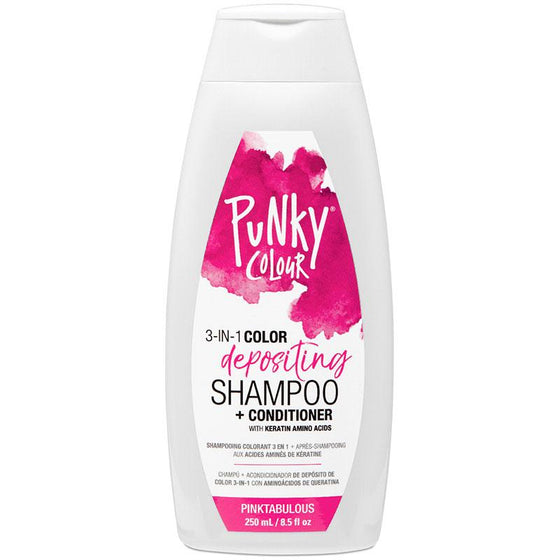 Punky Pinktabulous 3-In-1 Pink Colour Depositing Shampoo and Conditioner - Lasts 5 to 10 Washes