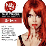 Punky Redilicious 3-In-1 Red Colour Depositing Shampoo and Conditioner - Lasts 5 to 10 Washes