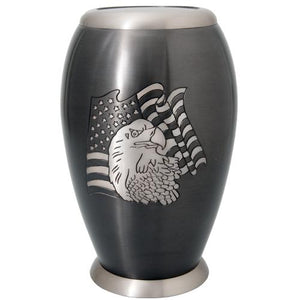 Flag and Eagle Cremation Urn