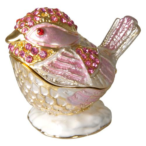 Light Pink Bird Urn Keepsake