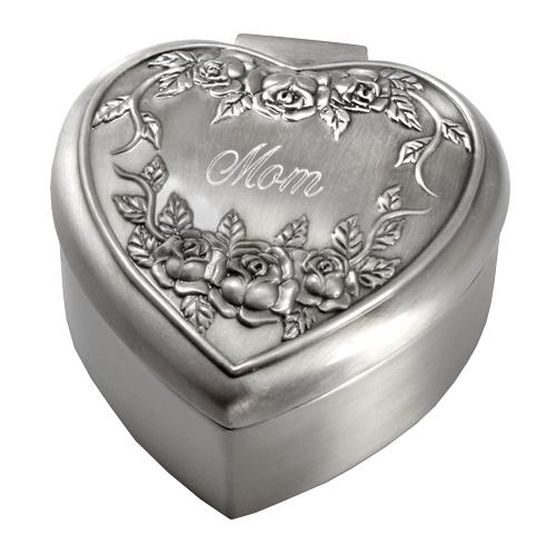 Roses Remembrance Heart Urn Keepsake